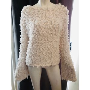 Dee Elly Popcorn Pullover Bell sleeve sweater